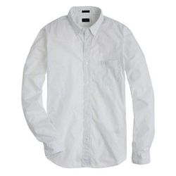 """This <a href=""""http://www.jcrew.com/mens_category/shirts/patternandprintedshirts/PRDOVR~92986/92986.jsp"""">Slim Pindot Shirt</a> ($88) from J.Crew is slim-fitting and has a button down collar. You're sure to look tailored!"""