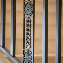 Details in the iron and metal work inside the Pocatello Idaho Temple.
