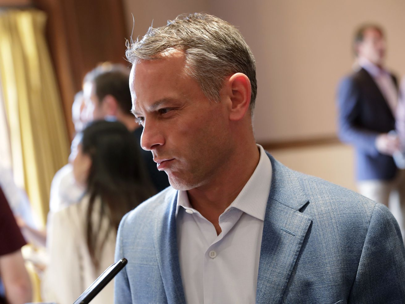 """Cubs president of baseball operations Jed Hoyer said his hope was """"waning"""" that the Cubs would reach the 85% vaccination threshold that would ease coronavirus restrictions by MLB.r"""