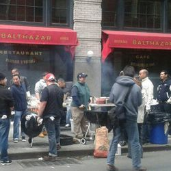 """<a href=""""http://ny.eater.com/archives/2012/11/balth.php"""">Balthazar Returns From the Storm as a Street Meat Stand</a>"""