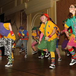 The youth performance group Kids Against Drugs and Alcohol performs for alcohol and drug abuse counselors.