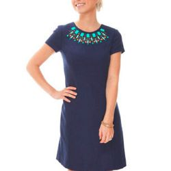 """Shoshanna embellished Sima dress, <a href=""""http://tnuck.com/collections/ladies/products/embellished-sima-dress"""">$395</a> at Tuckernuck"""