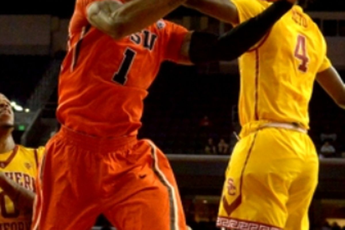 Pac-12 Defensive Player of the Year and All-Conference First Team member Gary Payton II will need to do better than he did the first time against Arizona State for Oregon State to advance.