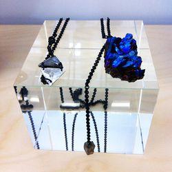Obsessed with that Artigas raw cobalt quartz piece.