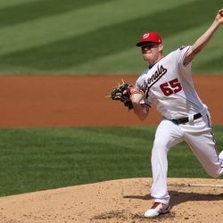 Josh Rogers, Nationals starting pitcher on Tuesday