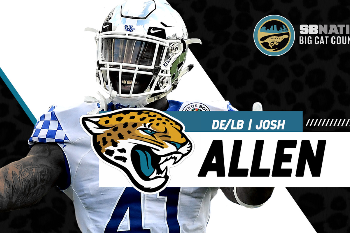 the latest a15f6 f6942 2019 NFL Draft results: Jaguars pick Josh Allen - Big Cat ...