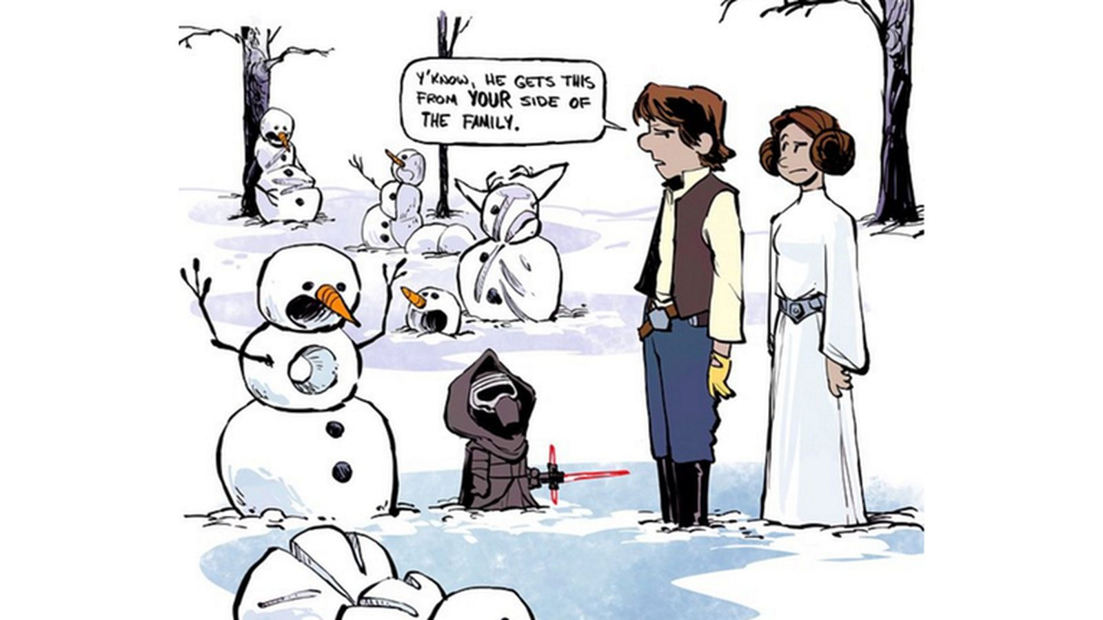 The Force Awakens Meets Calvin And Hobbes Hearts Melt