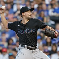 Cody Poteet, Marlins starting pitcher on Thursday