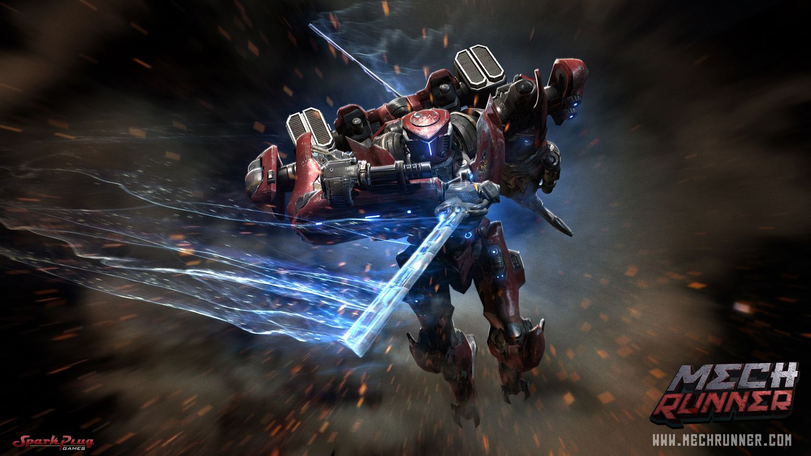 What Is A Spark Plug >> Iron Man 3 artist helping to bring MechRunner to PS4, Vita ...