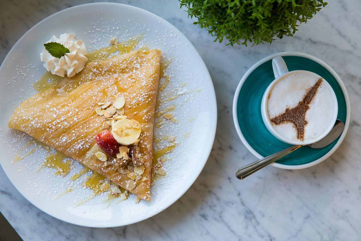 The dulce de leche crepe from Sweet Paris