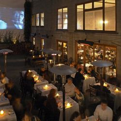 Opened in 1999, the industrial chic Foreign Cinema pays homage to the former San Francisco theatre district in the heart of the evolving Mission district. Foreign and independent films are screened in a covered outdoor courtyard as the sun goes down. Insi