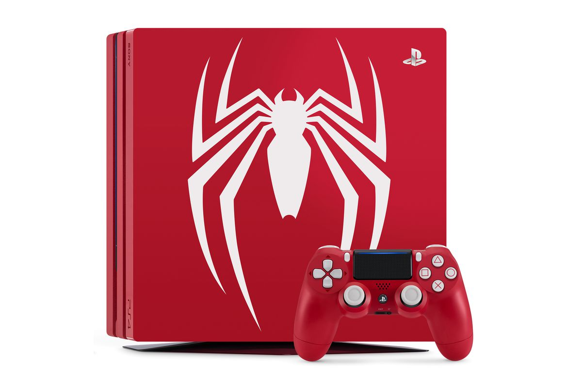 spider man ps4 console