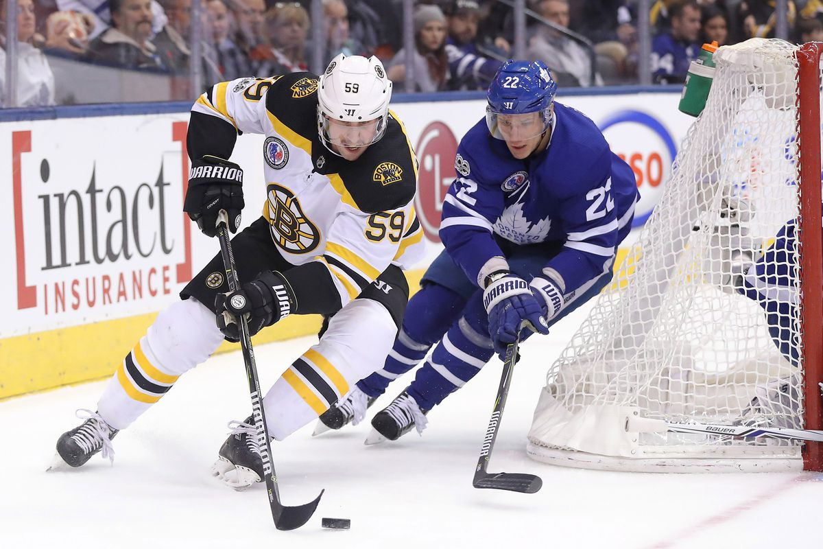 Toronto Maple Leafs Vs Boston Bruins Morgan Rielly And Ron Hainsey Are Back Pension Plan Puppets