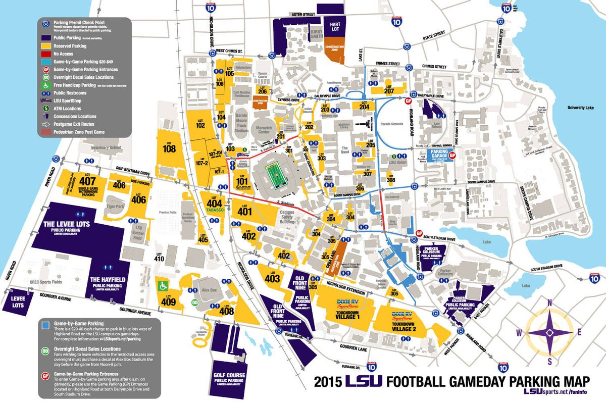 2015 Football Parking Map Released And The Valley Shook