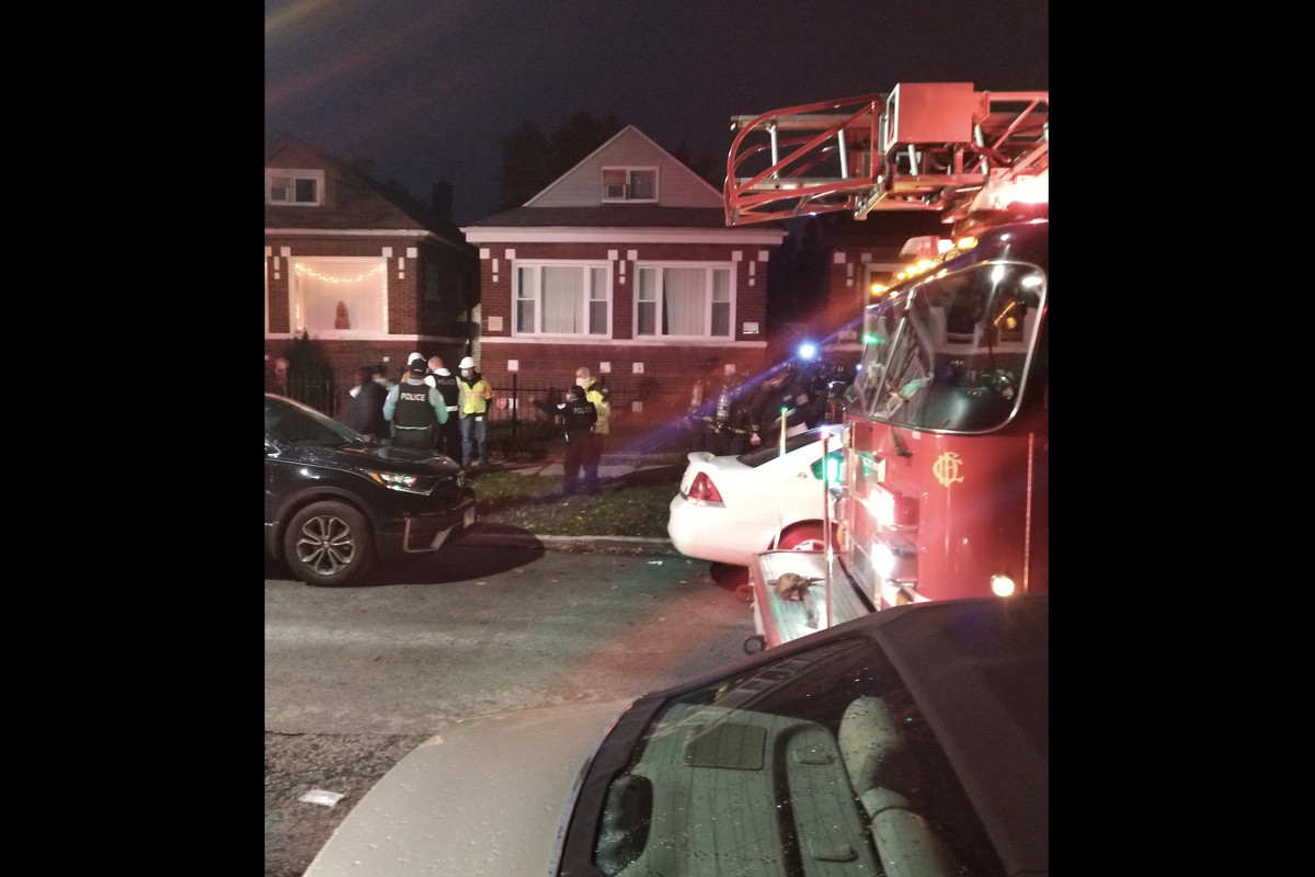 Fire crews respond after two people were poisoned by carbon monoxide Oct. 27, 2020, in the 8500 block of South Ada Street.