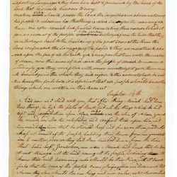 The editing and writing scribes can be seen on this page of the printer's manuscript of the Book of Mormon. Courtesy of the Community of Christ in Independence, Mo.