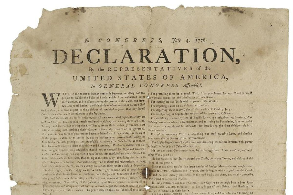 the declaration of independence of the Jefferson, thomas: declaration of independence dramatization of events surrounding the adoption of the declaration of independence, which was written by thomas jefferson and approved by the continental congress and signed on july 4, 1776 encyclopædia britannica, inc.