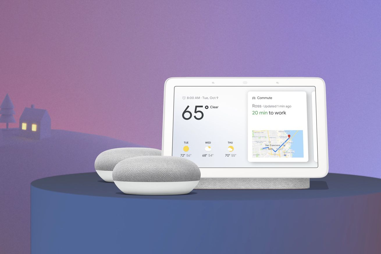 google is selling the home hub and two home mini speakers for just 129
