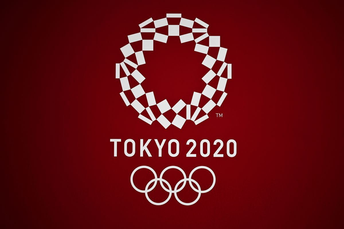 This general view shows the Tokyo 2020 Olympic Games logo in Tokyo on March 24, 2020.