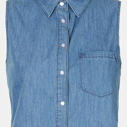 "Topshop moto 'Sophie' crop sleeveless denim shirt, $52 at <a href=""http://shop.nordstrom.com/s/topshop-moto-sophie-crop-sleeveless-denim-shirt/3504018"">Nordstrom</a>"