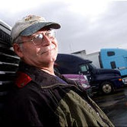 Campaigning can be difficult for U.S. Senate candidate Joe LaBonte, a long-haul trucker who often finds himself outside Utah.