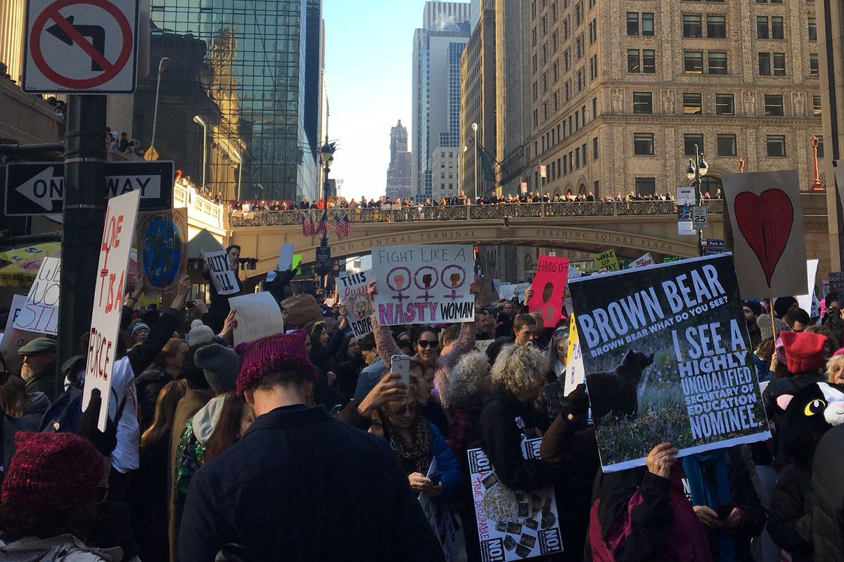 The Women's March in New York City.
