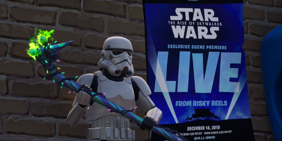 Fortnite's movie theater will show a scene from Star Wars: The Rise of Skywalker