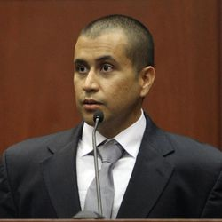 George Zimmerman appears before Circuit Judge Kenneth R. Lester Jr. Friday, April 20, 2012, during a bond hearing in Sanford, Fla. Lester says Zimmerman can be released on $150,000 bail as he awaits trial for the shooting death of Trayvon Martin. Zimmerman is charged with second-degree murder in the shooting of Martin. He claims self-defense.