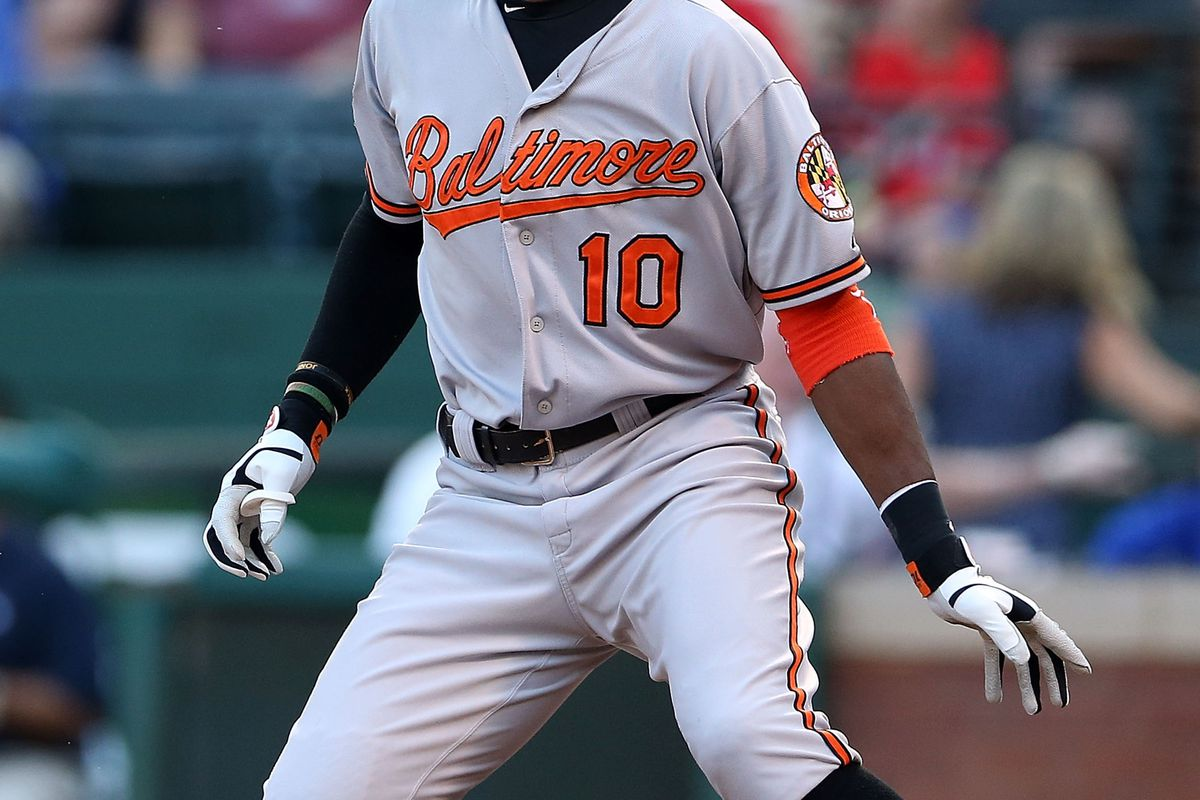 Adam Jones's red-hot first half might make him the perfect sell-high player in keeper leagues. (Photo by Ronald Martinez/Getty Images)