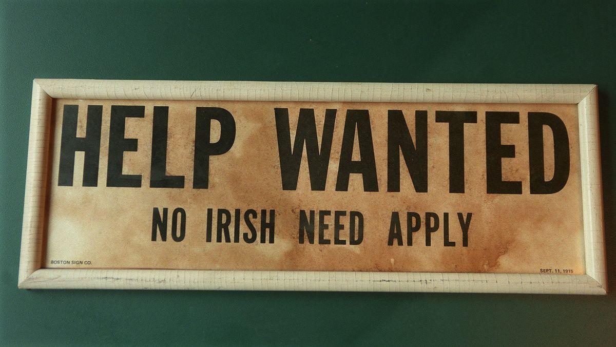 Afbeeldingsresultaat voor Irish not welcome