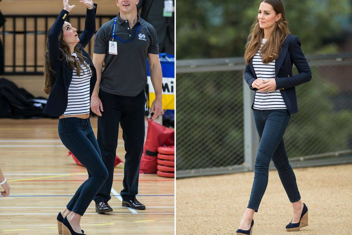 da5f49a738b Kate Middleton Plays Volleyball in Wedges at Latest Appearance - Racked