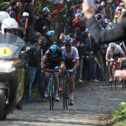 Thomas goes, with gap-toothed Stybar