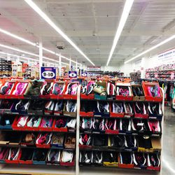 Shoes as far as the eye can seen.