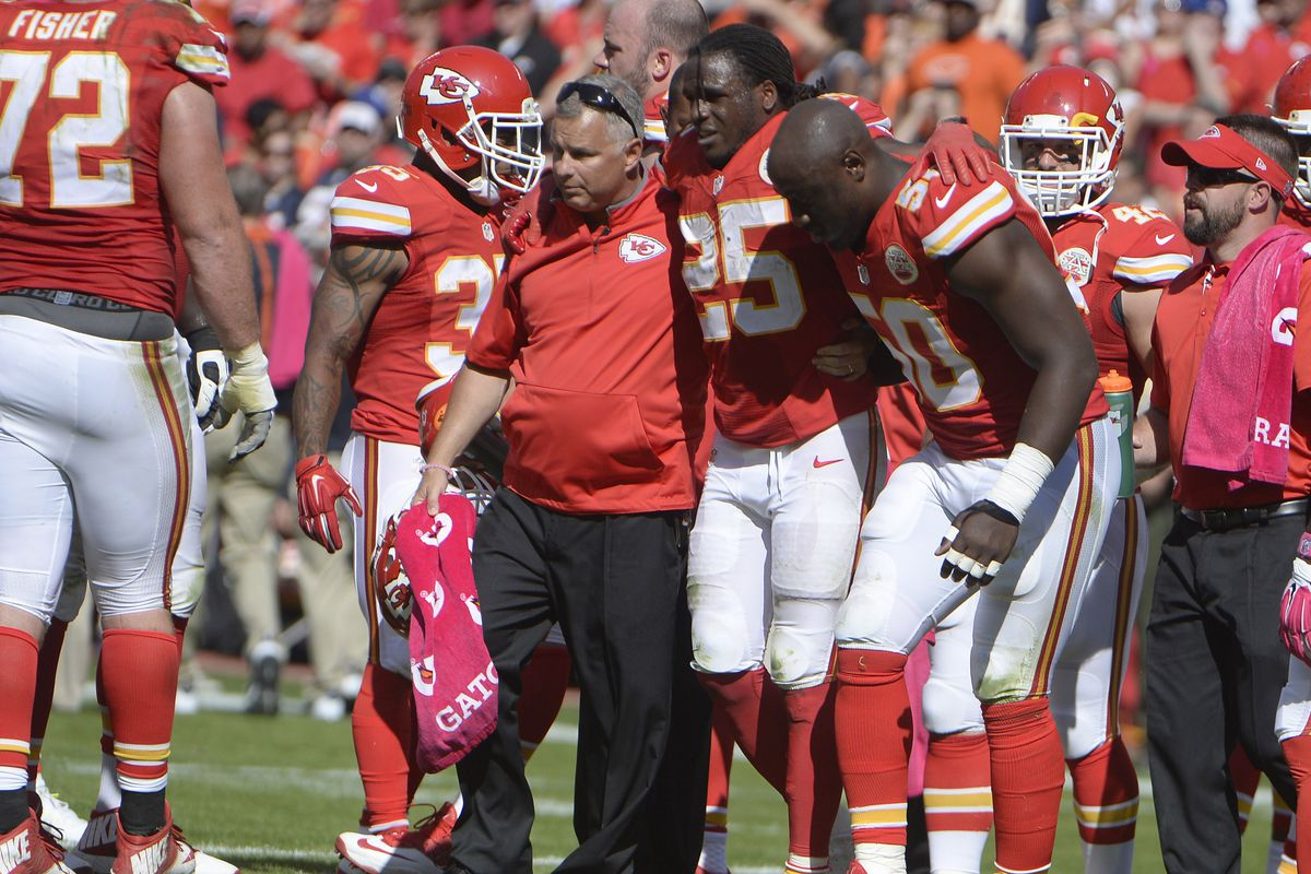 The Chiefs added injury (losing Jamaal Charles for the year) to insult (losing at home to the Bears) last week.
