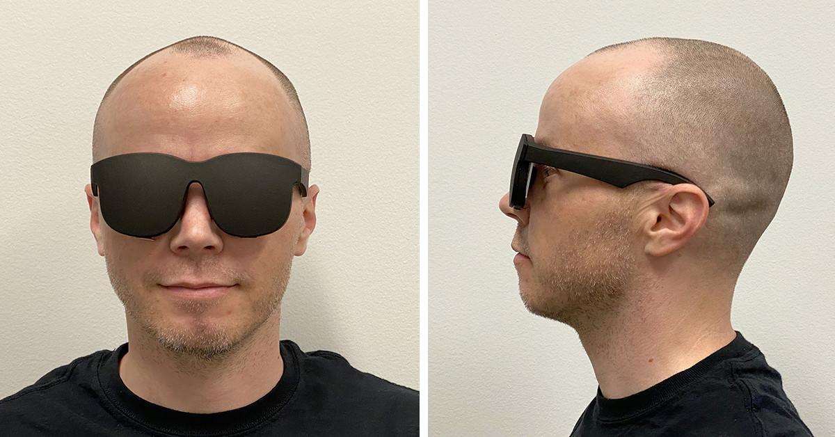 O mais novo headset VR de prova de conceito do Facebook parece um par de óculos de sol 3