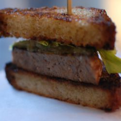 Foie and brioche elevated duck meatloaf