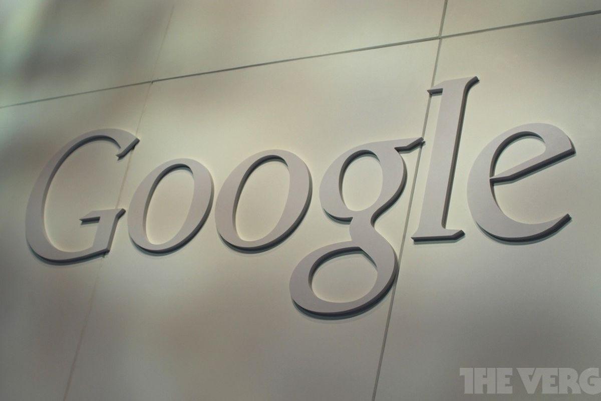 Google 3D logo white stock 1020