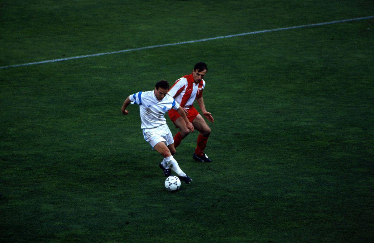 Olympique Marseille v Red Star Belgrade - Champion clubs cup final 1991