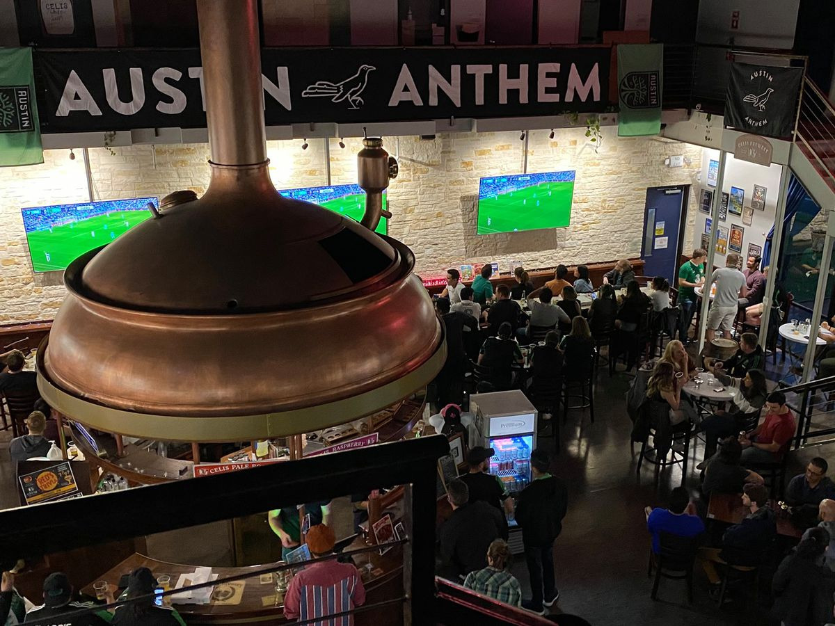 An Austin FC watch party at Celis Brewery