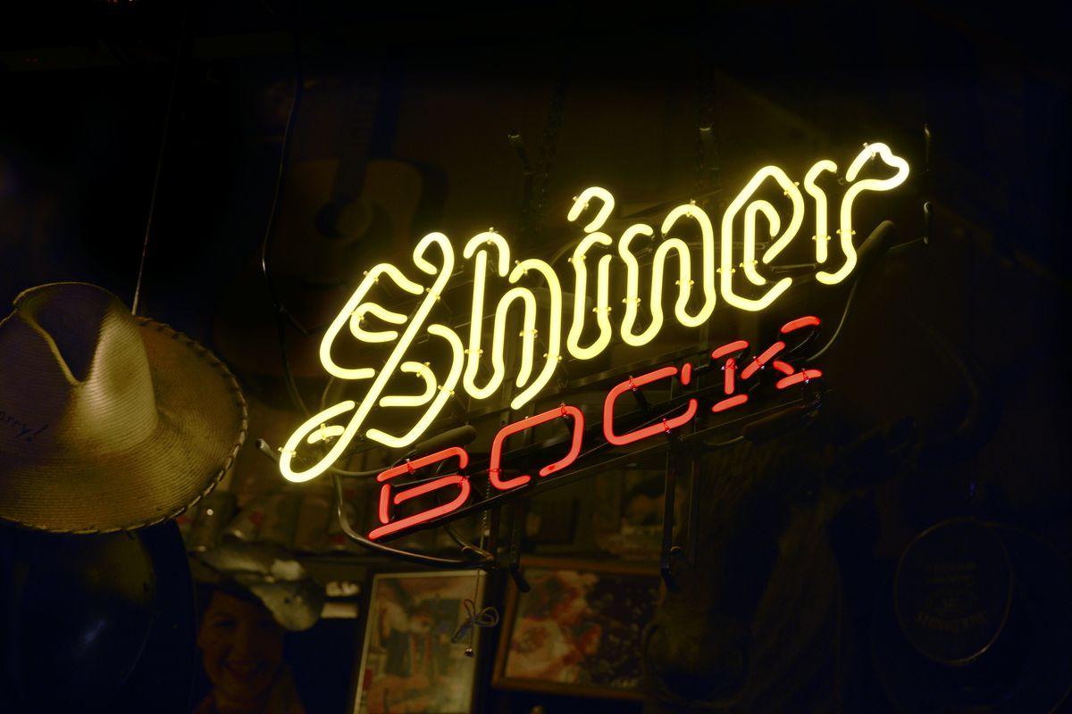 Shiner Bock neon sign
