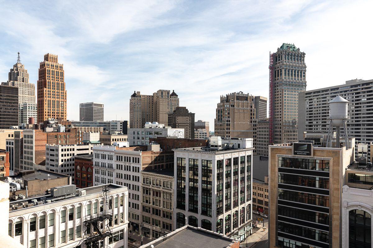 The downtown Detroit skyline