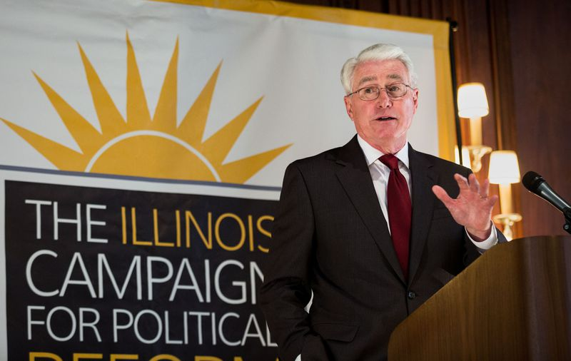 Former Illinois Gov. Jim Edgar speaks during a luncheon hosted by the Illinois Campaign for Political Reform in 2016.