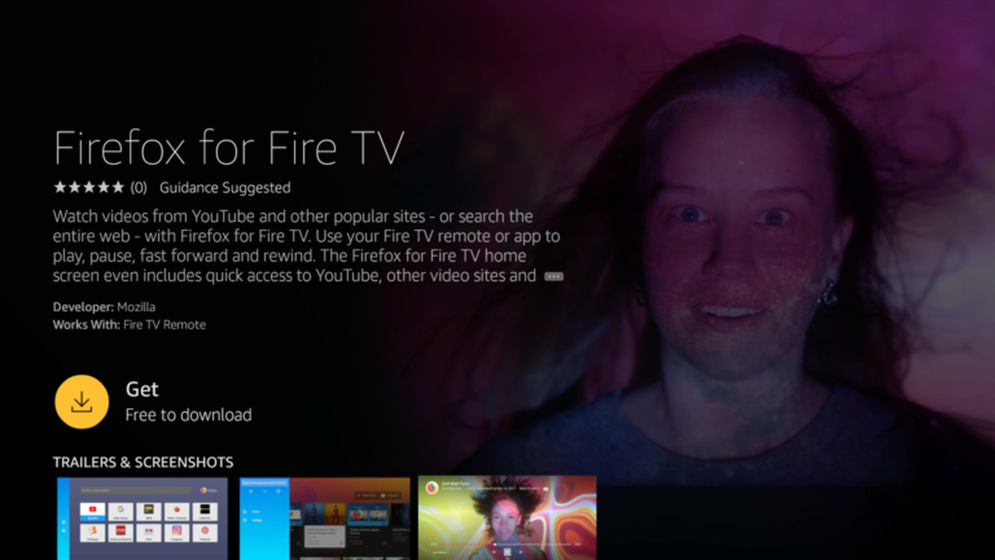 Firefox Fire Tv Is Now Available On Amazons And It Can Access Youtube The Verge