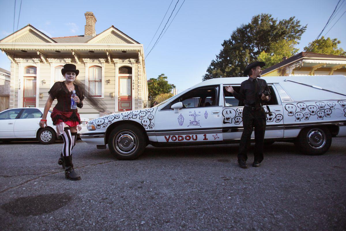 Revelers Enjoy Halloween Parade In New Orleans