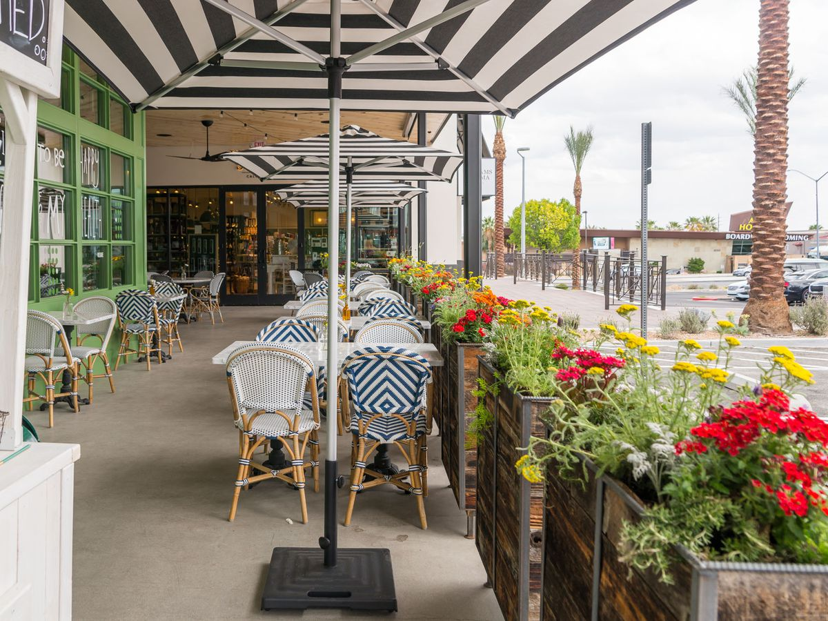 The patio at Flower Child