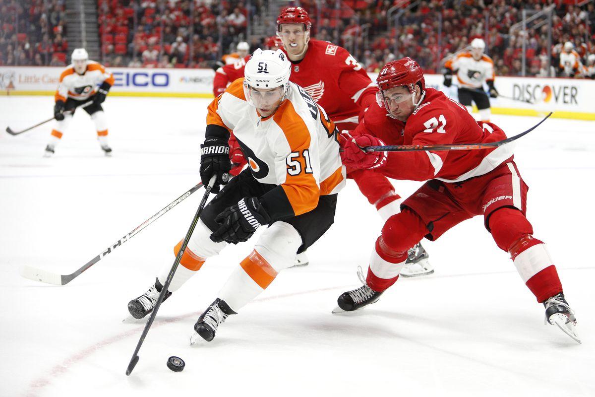 NHL: Philadelphia Flyers at Detroit Red Wings