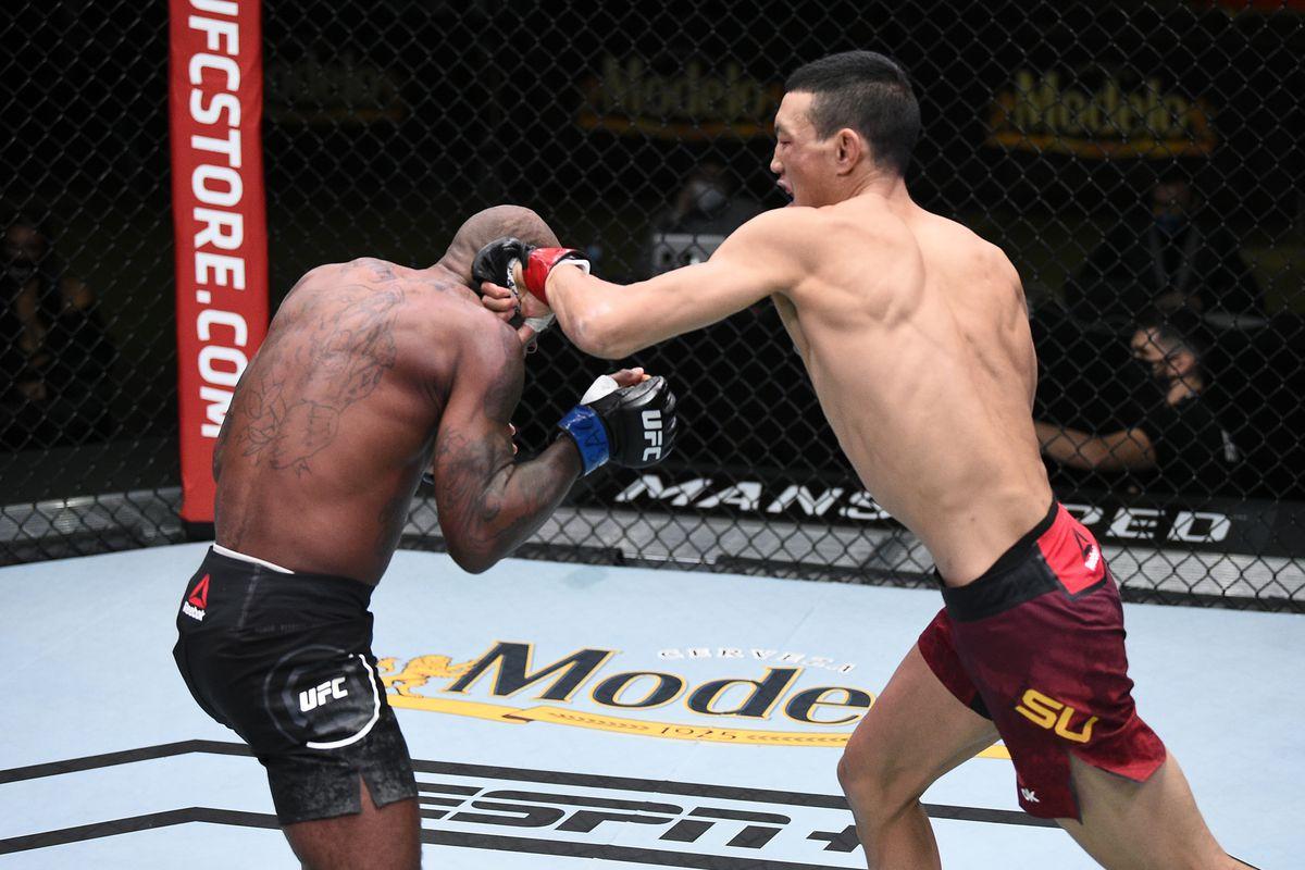 UFC Vegas 15 video: Mudaerji Su steamrolls Malcolm Gordon in 44 seconds - MMA Fighting