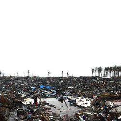 Panoramic view of damage in Tacloban, Friday, Nov. 22, 2013.