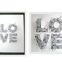 """Letterpress <a href=""""http://twopaperdolls.com/store/love-print-white/"""">Love Print</a>, $25 at Two Paper Dolls"""