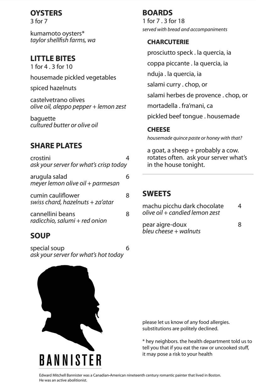 menu bannister
